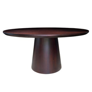 Danish Modern Round Pedestal Dining Table For Sale