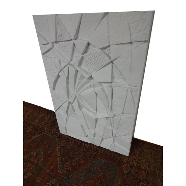 Mid-Century 3D Geometric Wall Hanging Sculpture For Sale In Saint Louis - Image 6 of 10