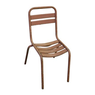 Tolix French Industrial Metal Chair For Sale