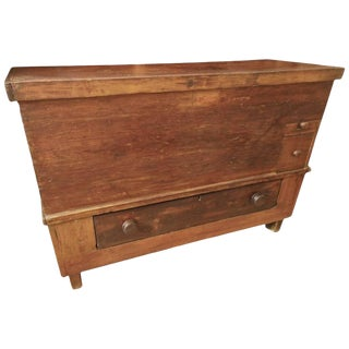 19th Century Primitive Blanket Chest For Sale