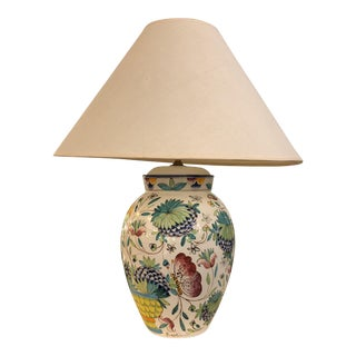 Italian Hand Painted Ceramic Table Lamp