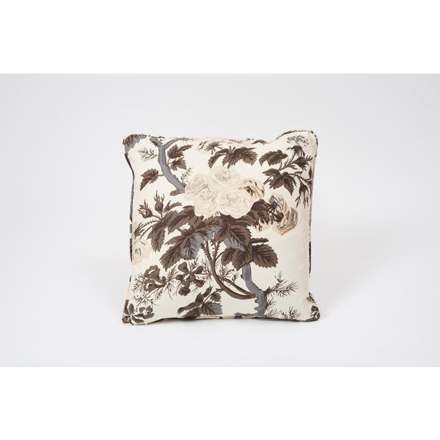 Textile Schumacher Double-Sided Pillow in Pyne Hollyhock Print For Sale - Image 7 of 9