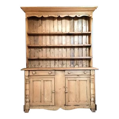 Early 1800's Scandinavian Pine Hutch For Sale