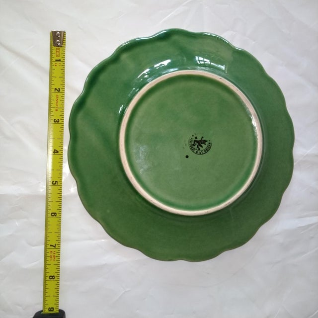20th Century Cottage Portuguese Ceramic Plate For Sale - Image 4 of 6