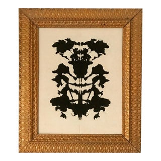 Original Framed Ink on Canvas Rorschach Painting