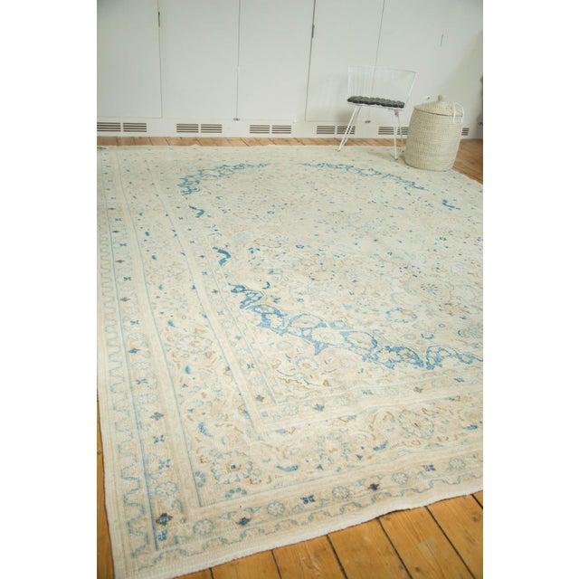 "Vintage Distressed Meshed Carpet - 9'9"" x 12'10"" For Sale - Image 9 of 9"