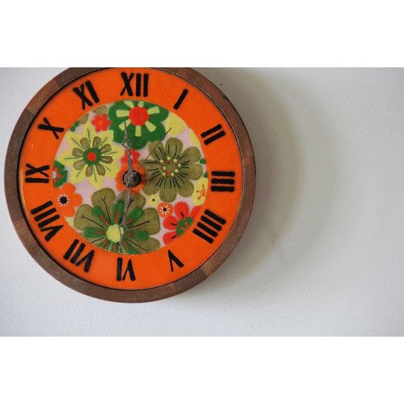 Italian Pottery & Teak Wall Clock - Image 3 of 4