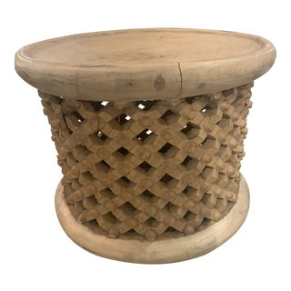Boho Chic Bamileke Stool For Sale