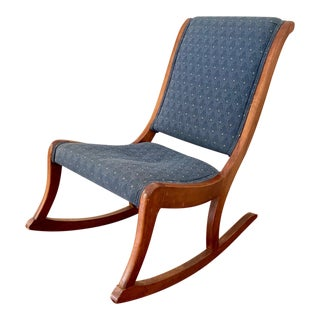 Antique Wooden Armless Rocker For Sale