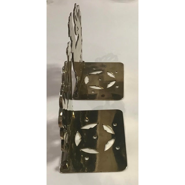 Nice Mid Century brass Bookends with roosters or chickens. Lots of nice detail on these!