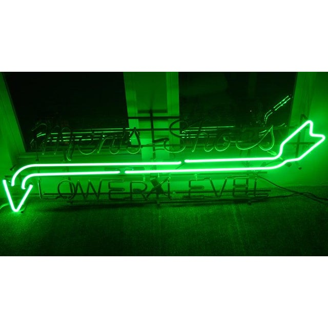 Neon Sign From Department Store, Men's Shoes, Lower Level, Circa 1930s. For Sale - Image 11 of 13