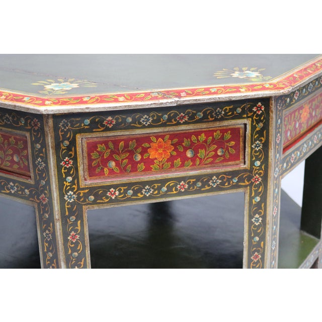 Painted Wooden Coffee Table. 1920s, India.