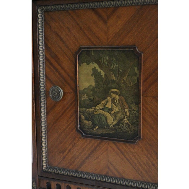 French Neoclassical Inlaid Nightstand - Image 3 of 5