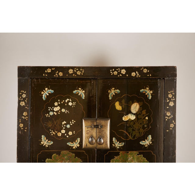 Rare Pair of 18th Century Chinese Cabinets For Sale - Image 10 of 11
