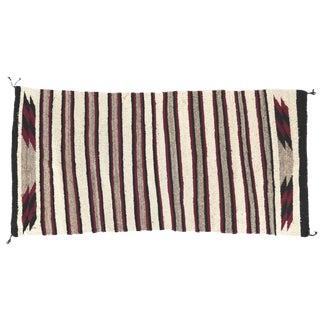 Lee Smith Handwoven Navajo Wool Rug Runner Saddle Blanket For Sale