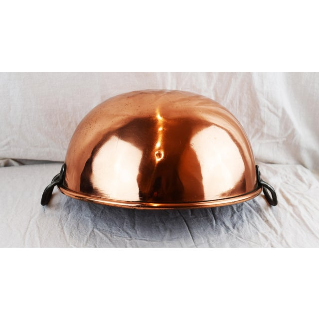 Mid 19th Century Handmade Copper Bowl For Sale - Image 5 of 11