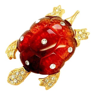 Turtle Brooch by Kenneth Jay Lane For Sale