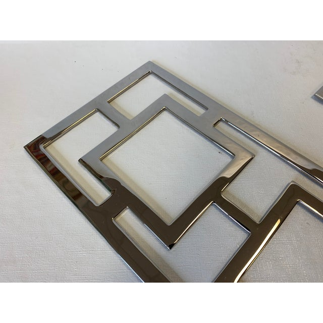 Modern Chrome Wall Sconces - a Pair For Sale In West Palm - Image 6 of 10