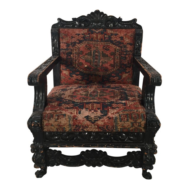 Antique Mexican Arm Chair - Image 1 of 7