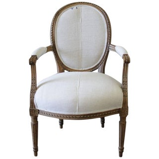 Mid 19th Century Antique Louis XVI Style French Ribbon Chair
