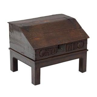1678 English Oak Bible Box For Sale