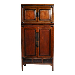 19th Century Antique Cabinet With Five Drawers For Sale