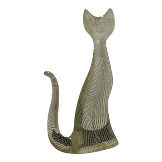 Abraham Palatnik Lucite Standing Cat Mid-Century Op Kinetic Art Sculpture