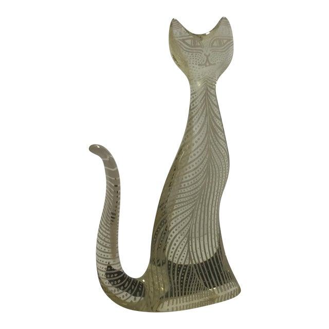 Abraham Palatnik Lucite Standing Cat Mid-Century Op Kinetic Art Sculpture For Sale