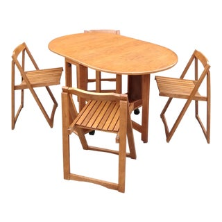 Mid Century Modern Table & Chairs For Sale