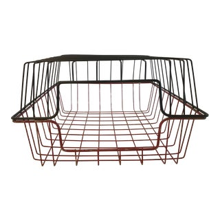 20th Century Rustic Wire Baskets - a Pair For Sale