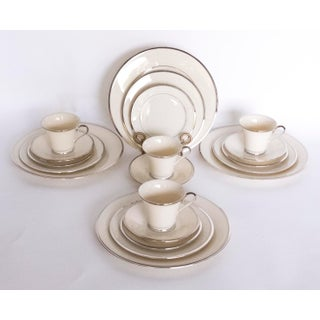 Lenox Solitaire Pattern China Dinnerware - Service for 4 (20 Pc.) For Sale