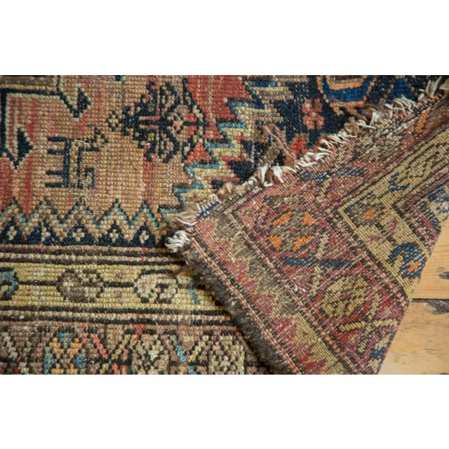 """Antique Tattered Malayer Square Rug - 3'5"""" x 4'3"""" - Image 7 of 10"""