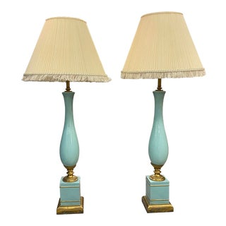 Pair of Vintage French Lamps, C. 1950s For Sale