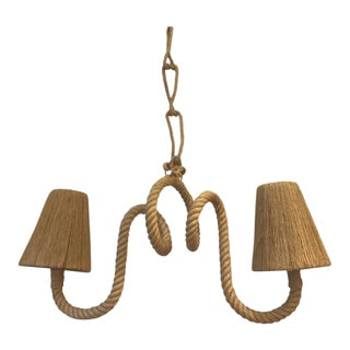 Audoux Minet Charming Twisted Rope Chandelier For Sale