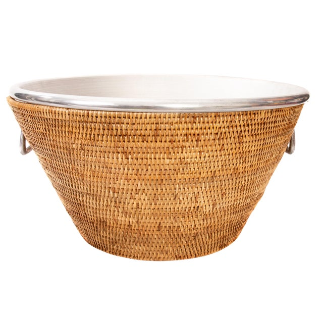 """Artifacts Rattan Aluminum Ice Tub 22.5""""x 12"""" For Sale"""