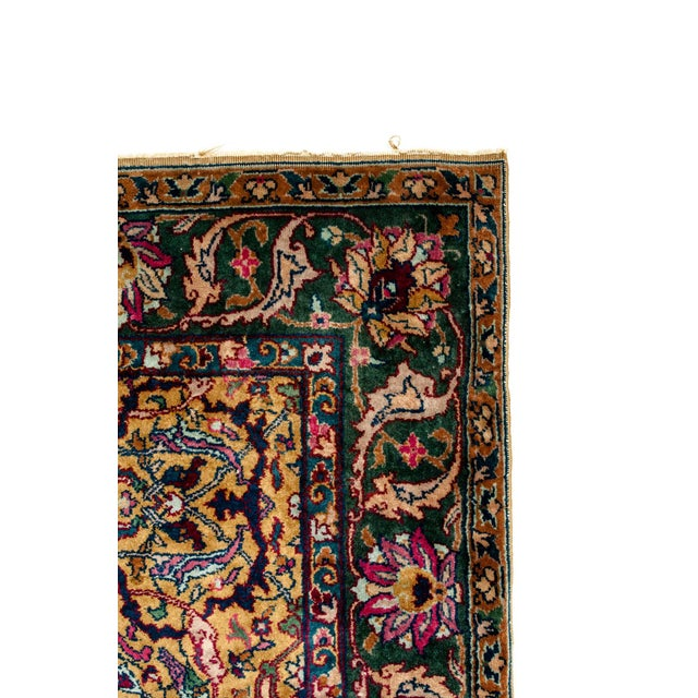 Silk Persian Pure Silk Hand Knotted Area Rug - 5′2″ × 8′2″ For Sale - Image 7 of 10