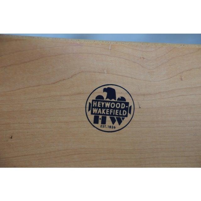 Heywood Wakefield Tambour Door Credenza with Hutch Top For Sale - Image 10 of 11