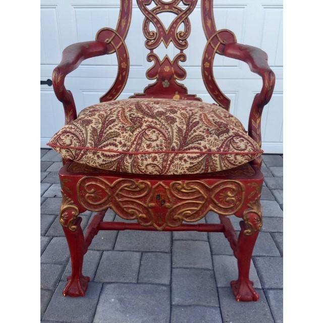 1940s Vintage Italian Renaissance Chair For Sale - Image 4 of 7