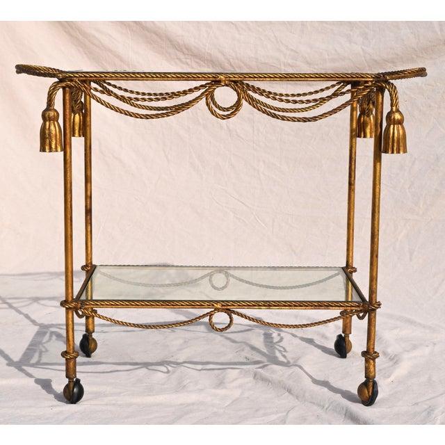 Italian Gilt Bar Cart For Sale - Image 11 of 11