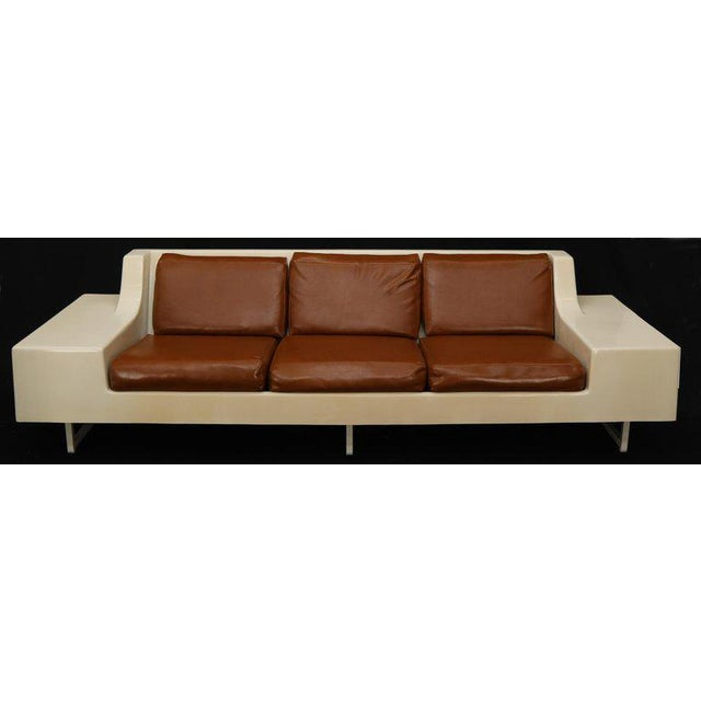 Mid-Century Modern 3-Seat Fiberglass Sofa With End Tables For Sale - Image 10 of 13