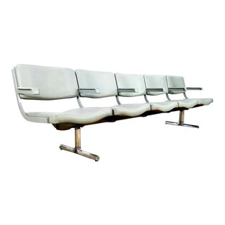 1970s Vintage Airport Bench For Sale