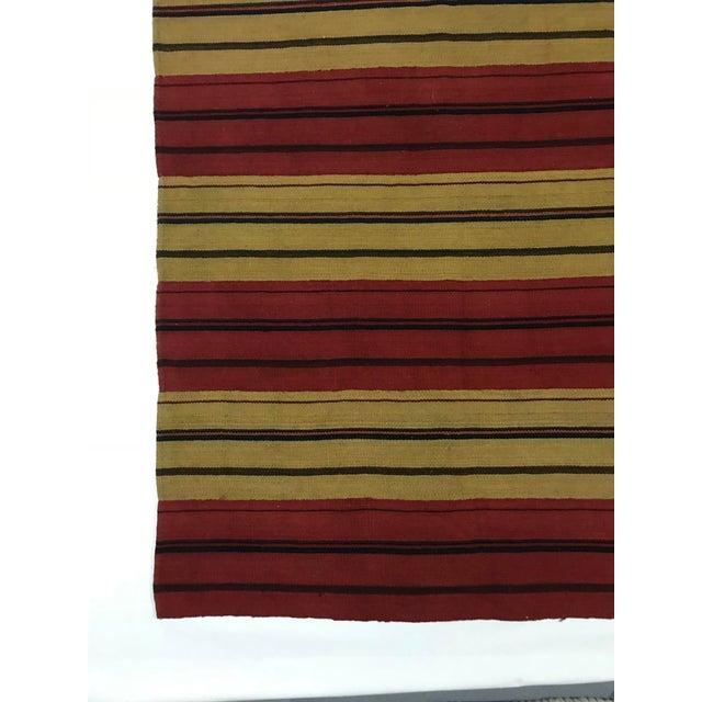 Vintage Persian Flat Weave Carpet - 8′ × 10′ For Sale - Image 4 of 5