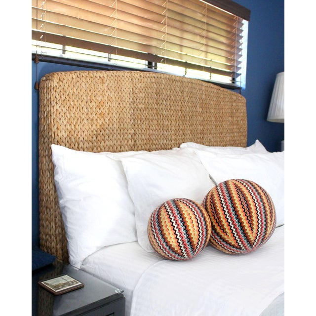 """Newly made from iconic vintage Missoni fabric, this 11"""" ball pillow is perfectly stuffed with all new material. A..."""