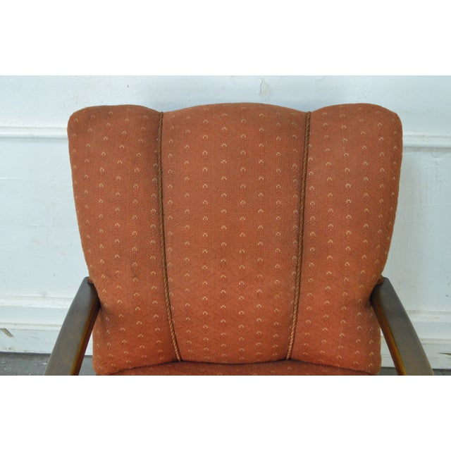 Art Deco Style Pair of Open Arm Lounge Chairs - Image 7 of 10
