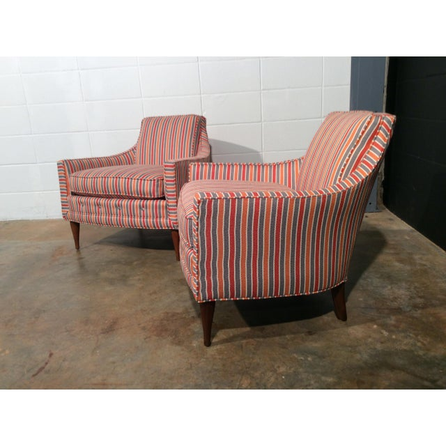 Mid Century Low Back Lounge Chairs - a Pair For Sale - Image 4 of 11