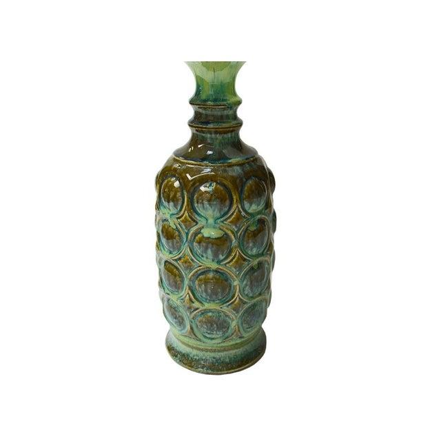 Vintage Ceramic Drip Glaze Lamp - Image 2 of 4