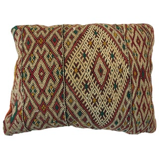 Moroccan Handwoven Tribal Berber Pillow For Sale