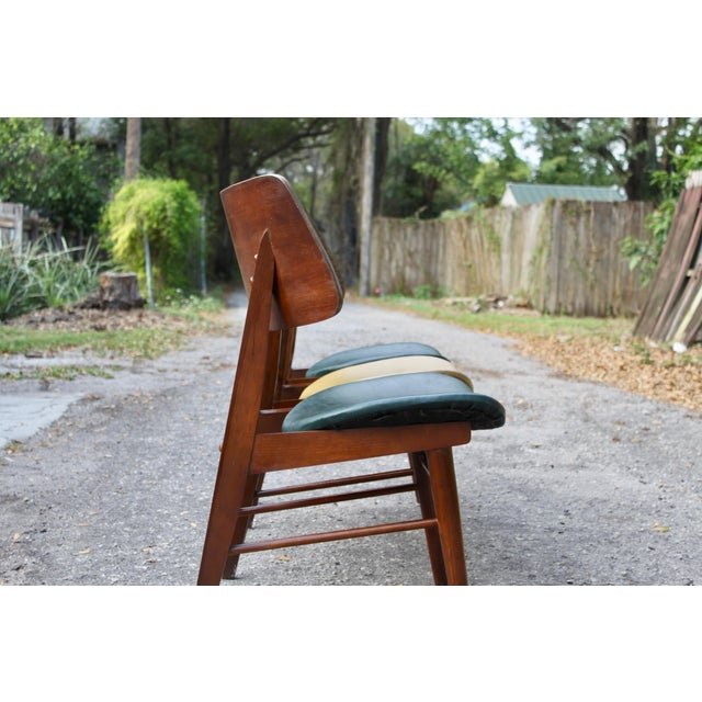 Mid-Century Modern Clam Shell Chairs - Set of 3 - Image 4 of 8