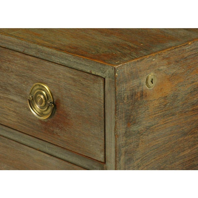 Brass Driftwood Grey Mahogany Cedar-Lined Commode For Sale - Image 7 of 9