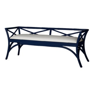 Charlotte Bench - Navy Blue For Sale